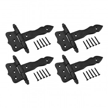 4 Door Hinges Black Wrought Iron Hinge 5
