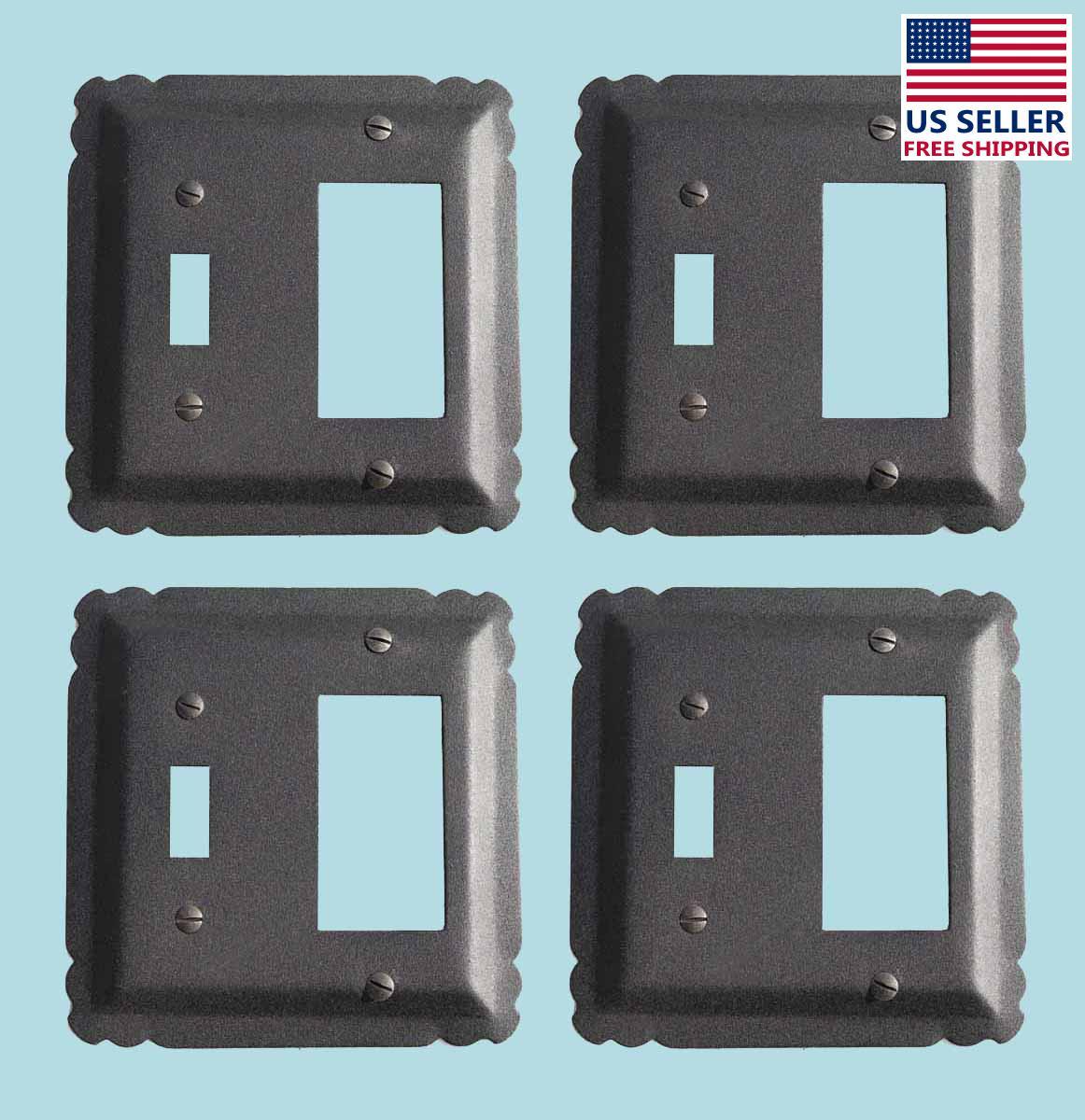 4 Switchplate Black Wrought Iron GFI/Toggle 5 1/4 | Renovators Supply 2