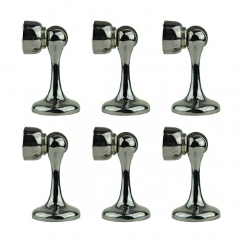 6 Magnetic Black ZINC ALLOY Magnetic Doorstop Holder Black 2 3/4 proj.