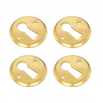 4 Escutcheon Solid Brass Keyhole Cover 1D