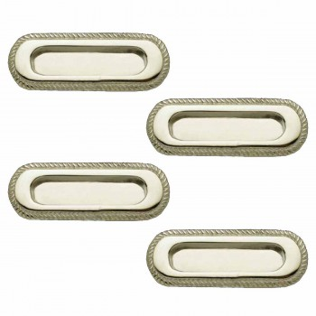 4 Georgian Rope Recessed Sash Lift Chrome Brass