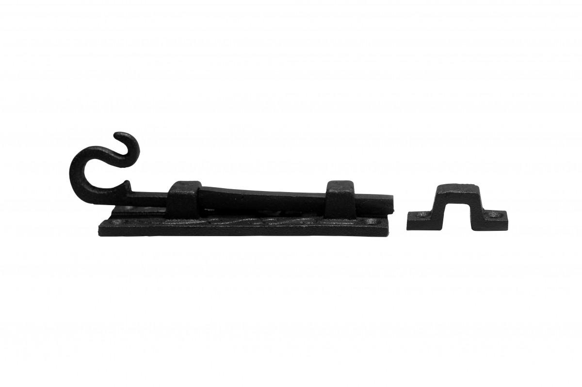 10 Black Wrought Iron Cabinet or Door Fancy Slide Bolt 4 3/4 | Renovators Supply 7