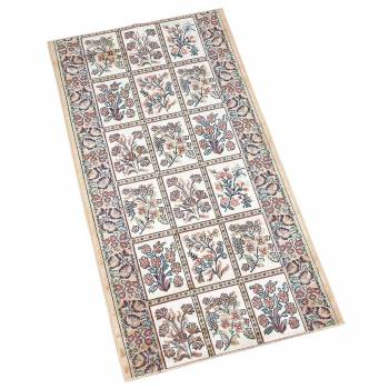 Runner Area Rug 2 2 Wide Sold by Foot Beige Silk Blend