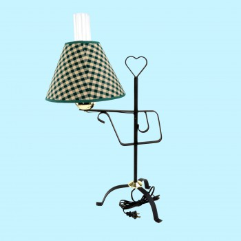 table lamp black wrought iron table lamp green shade 24 5 h. Black Bedroom Furniture Sets. Home Design Ideas