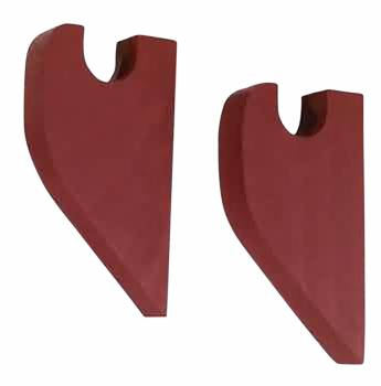 Pair Curtain Rod Red Pine Brackets