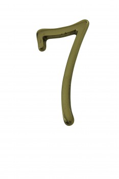 Bright Solid Brass 3 Address House Number 7 Pin Mount