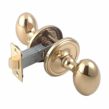 Passage Door Knob Set Solid Brass Egg 2 38