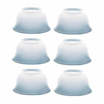 6 Lamp Shade White Glass Traditional 3 58 H x 4 Fitter