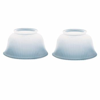 2 Lamp Shade White Glass Traditional 3 58 H x 4 Fitter