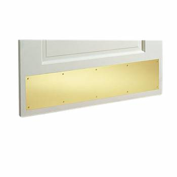 Door Kick Plate Solid Brass 6 x 38