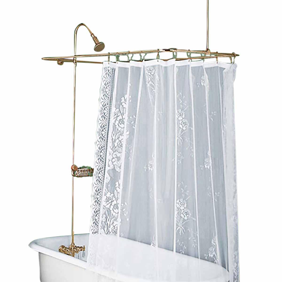 Shower Surround Bright Brass Rectangular Braces Only