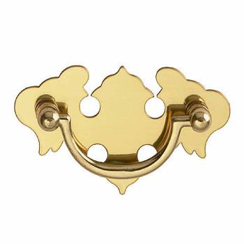 Chippendale Bail Pull Bright Solid Brass 3