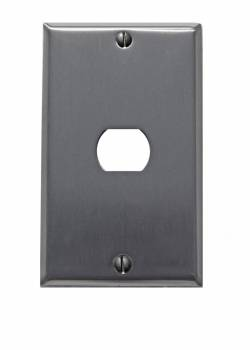 Switchplate Brushed Stainless Steel 1 Interchang/Despard