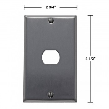 spec-Switchplate Brushed Stainless Steel 1 Interchang/Despard