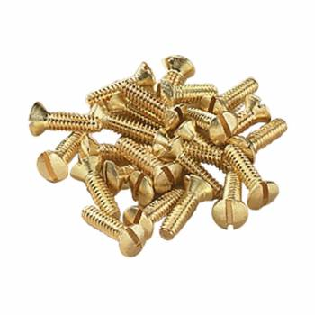 Switchplate Screws Brushed Solid Brass Oval Head Set of 25