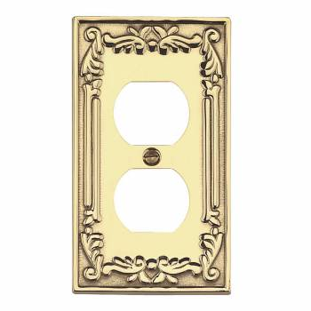 Victorian Switch Plate Outlet PVD Solid Brass