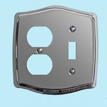 Switchplate Chrome Toggle/Outlet