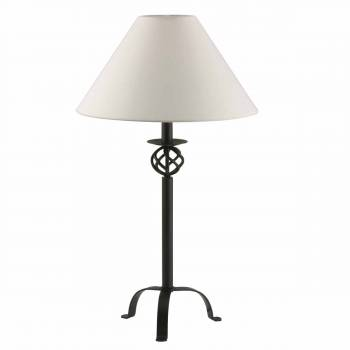 Black Wrought Iron Table Lamp 28 H