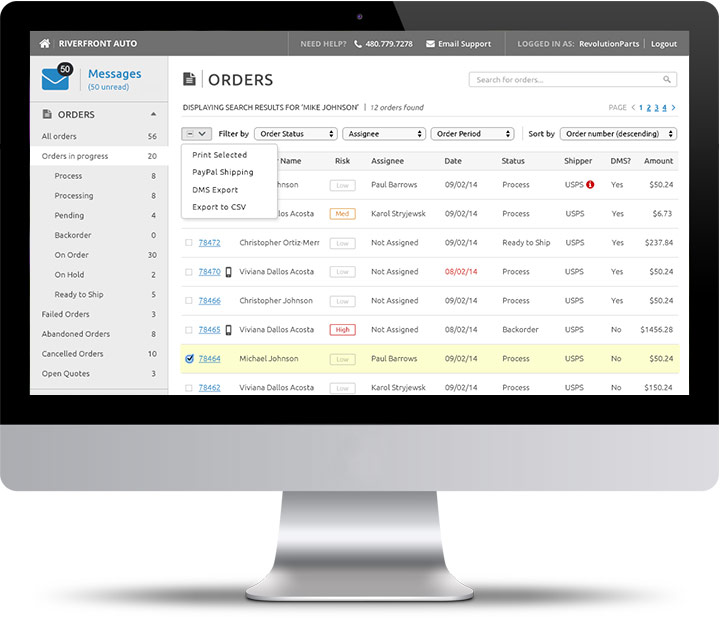 RevolutionParts - Flexible and Intuitive Back Office