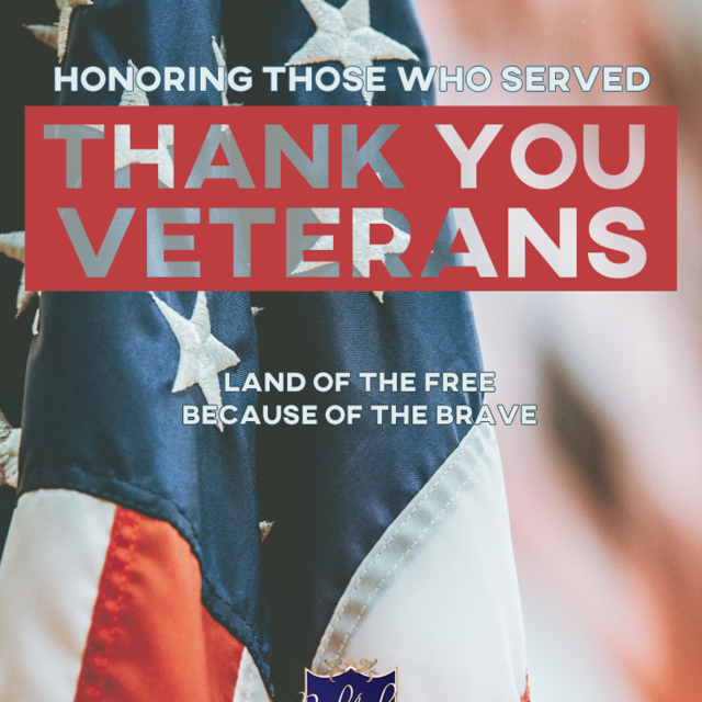 Thank you to all those who have served and given to us our precious freedom!