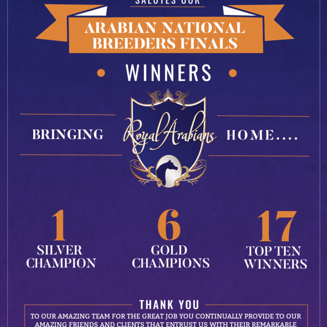 2020 Arabian National Breeders Finals Results