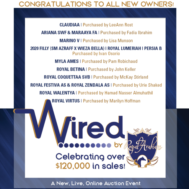 WIRED Results are in and we are thrilled for the winning bidders!
