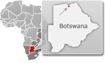 Map of Botswana with a highlight of Linyanti Concession
