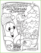 pack a shoebox with veggietales - Free Veggie Tales Coloring Pages 2