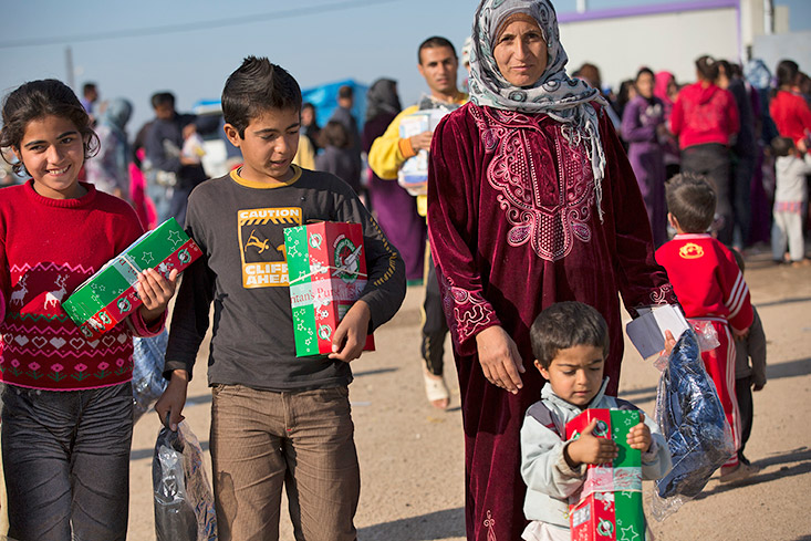 Shoebox distribution in Iraq