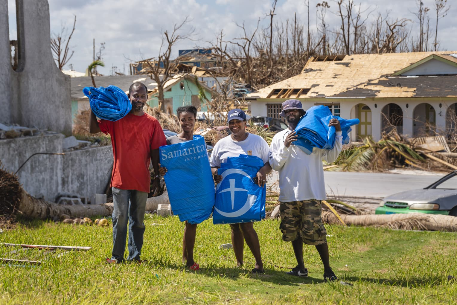 Samaritan's Purse airlifted 360 tons of emergency relief items after Hurricane Dorian devastated the Bahamas, taking lives and destroying thousands of homes.