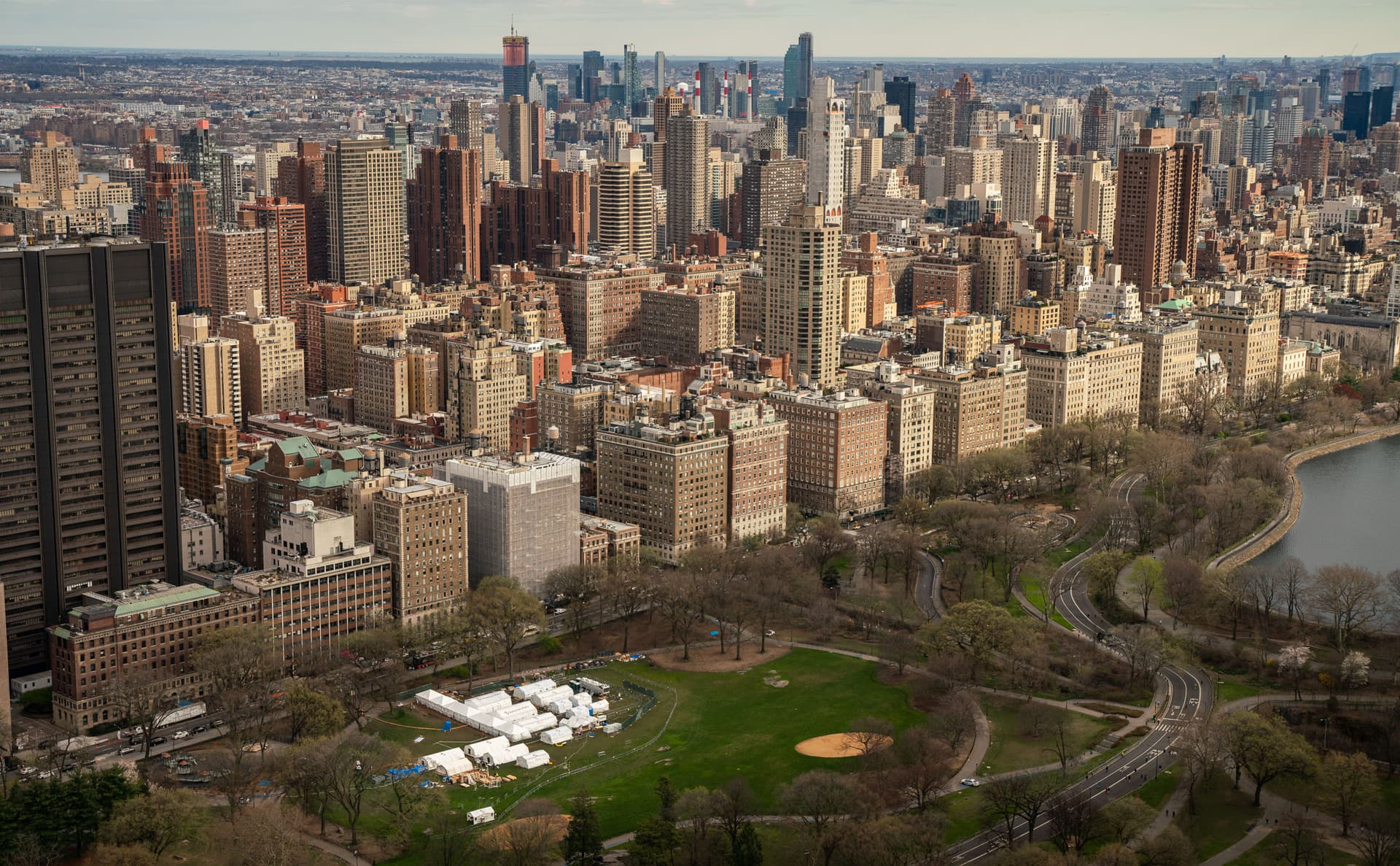Our field hospital is set up in New York City's Central Park.