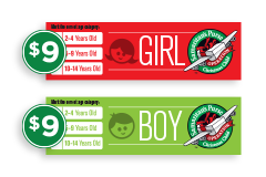 Girl Boy shoebox labels