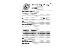 Drop-off Log (Black and White)