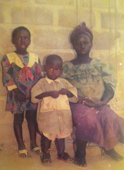 Désiré's only photo as an infant