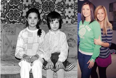 Nadia and her sister before-and-after