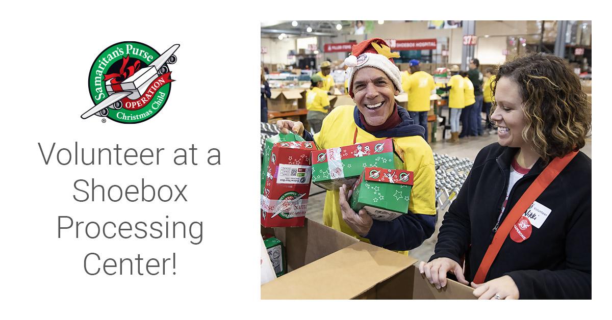Voluntree Christmas Denver 2020 Volunteer at a Shoebox Processing Center!