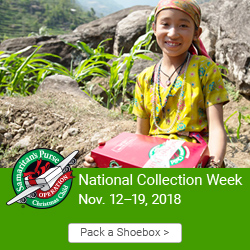 Operation Christmas Child Collection week @ Lebanon First Assembly of God