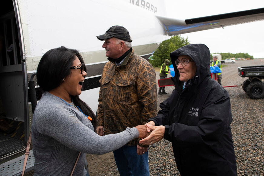 Franklin and Jane Austin Graham greeted each military couple as they arrived July 5 at Samaritan Lodge Alaska for the first week of the 2020 Operation Heal Our Patriots summer season.