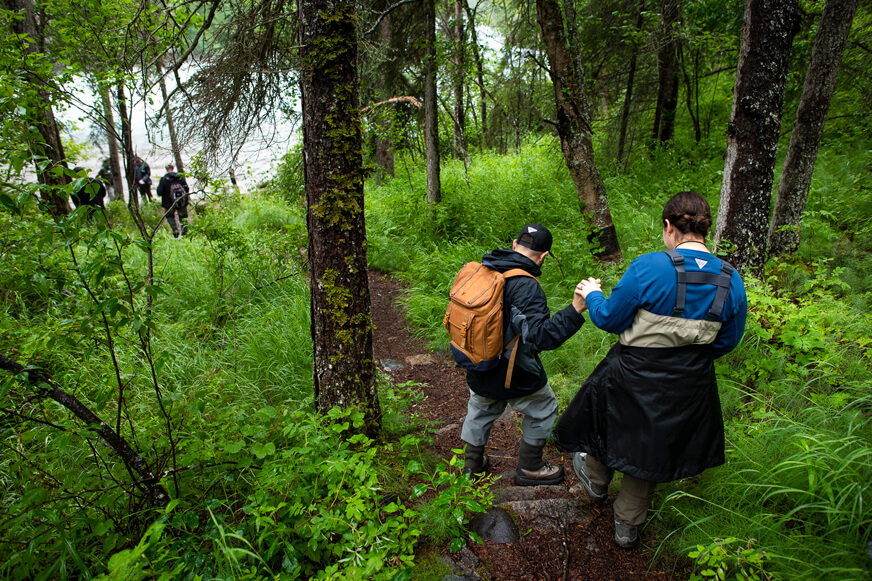 The hike to Tanalian Falls provides couples with a backdrop of unparalleled beauty to connect with each other and with God in the wilderness.