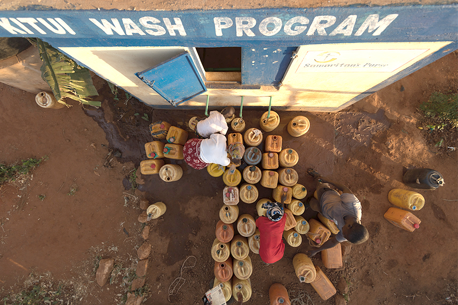Samaritan's Purse is helping to provide clean water to children in communities all over the world.