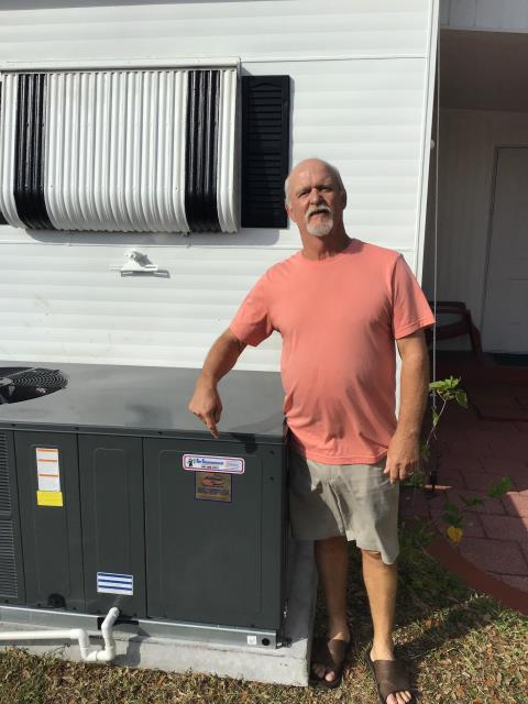 Sarasota, FL - Thank you Sam...a Proud and Satisfied Owner of our NEW AirGuaranteed Equipment Line. Beautifully installed by Randall's Team and Sold by William!