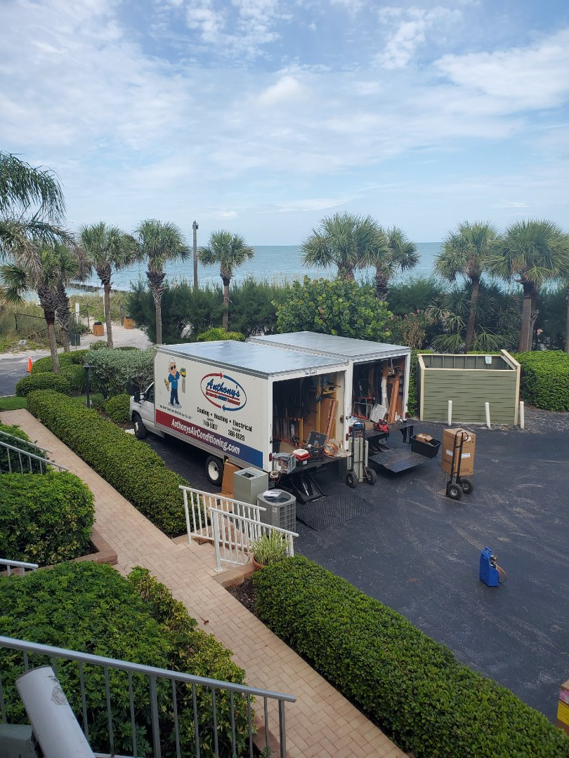 Longboat Key, FL - Installing 2 New American Standard Heating and Air Conditioning Systems at the Beach on Longboat Key, Florida.  Its No Wonder Why we are the #1 Dealer in the Southeastern United States!