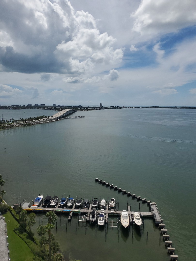 Sarasota, FL - Anthony's Cooling-Heating-Electrical Salesman are out here helping our customers get the best prices on New HVAC units!  They can even enjoy this bird's eye view of Bird Key, Florida while they work!