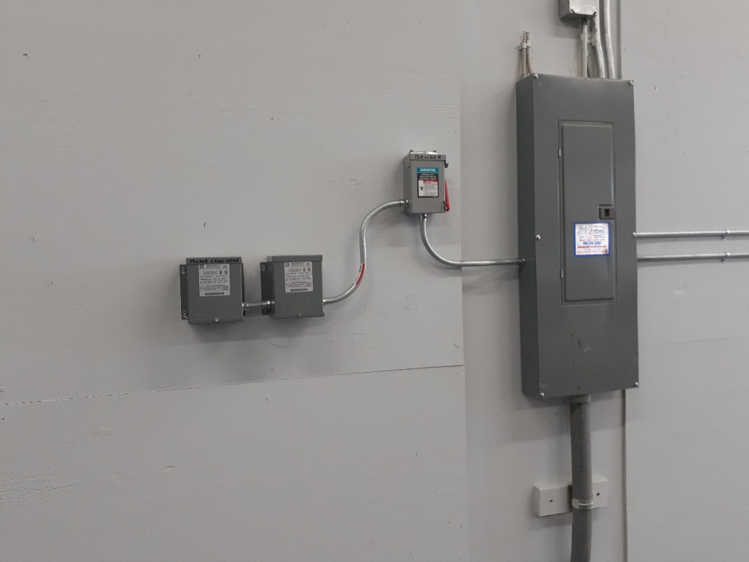 Palmetto, FL - Installing buck/boost transformers for our coolest customer's home.  Anthony's wants all of our customers to be safe by having all the right electrical components to prevent electrical malfunctions.