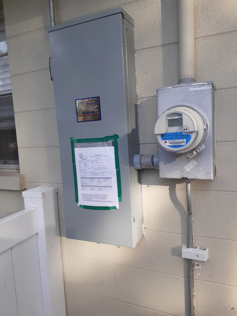 Ellenton, FL - Anthony's Cooling-Heating-Electrical replaced a 200 amp panel for our coolest customer's electrical safety!