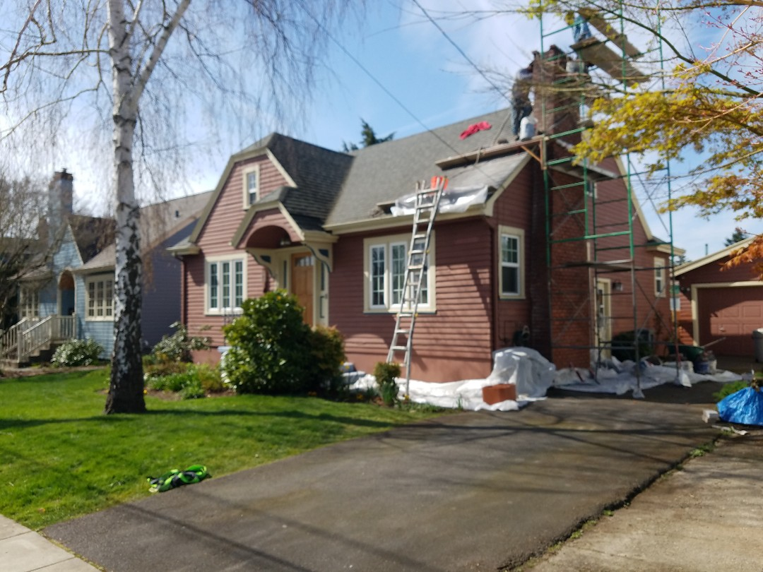 Portland, OR - Free estimate for new James Hardie fiber cement lap siding plus new gutters plus new roof on garage