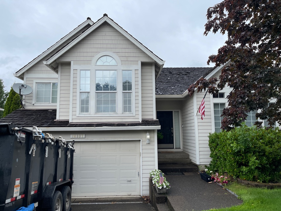 Tigard, OR - Starting another GAF roof in Tigard by Evergreen Renovations and Roofing. Siding kitchen remodel bath remodel. Roofing contractors. Additions. ADU