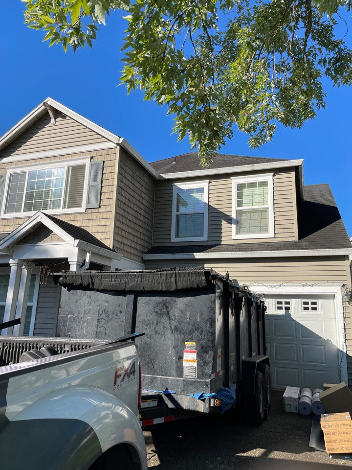 Beaverton, OR - Starting another GAF roof in Beaverton by Evergreen renovations and roofing. Siding windows. Kitchen remodel. Bath remodel. Additions ADUs