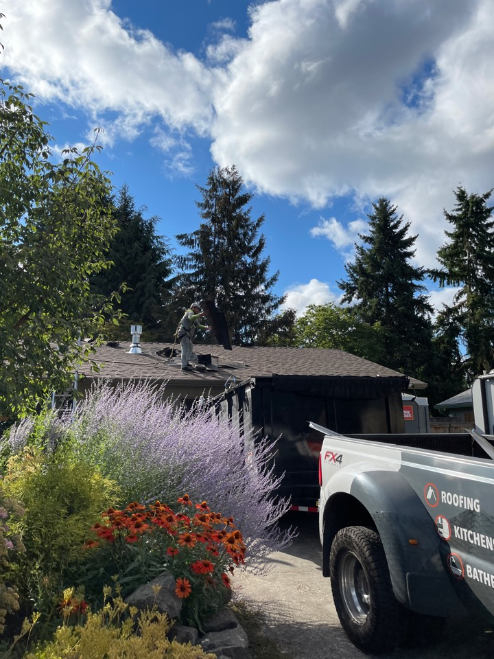 Tigard, OR - Starting another GAF roof in Tigard by Evergreen Renovations and Roofing. Siding windows. Kitchen remodel bath remodel. Additions. ADUs