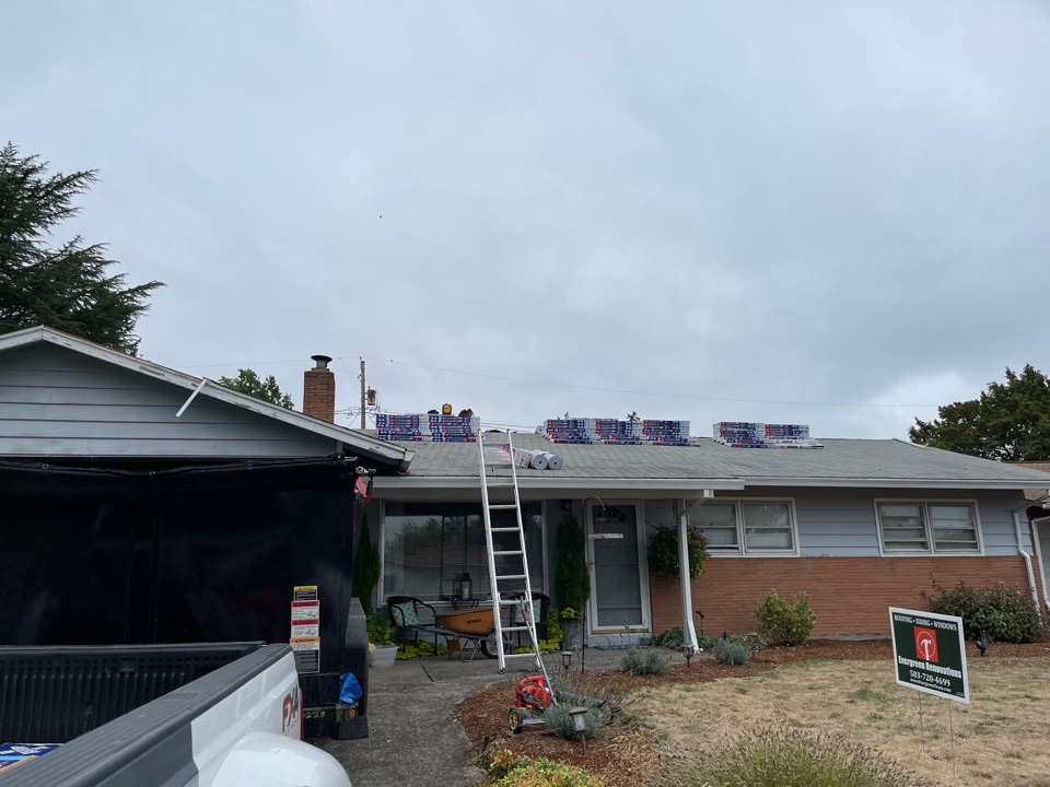 Beaverton, OR - Starting another GAF roof in Beaverton by Evergreen Renovations and Roofing. Siding. Kitchen remodel. Bath remodel. Additions. ADUs